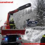 Schneefahrbahn: Unfallserie im Bezirk Liezen hält Feuerwehren auf Trab