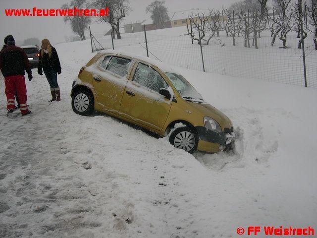 PKW fuhr in Straßengraben