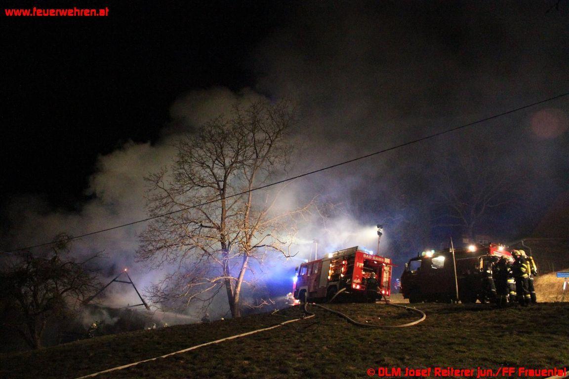 Wohnhausbrand in Bad Gams