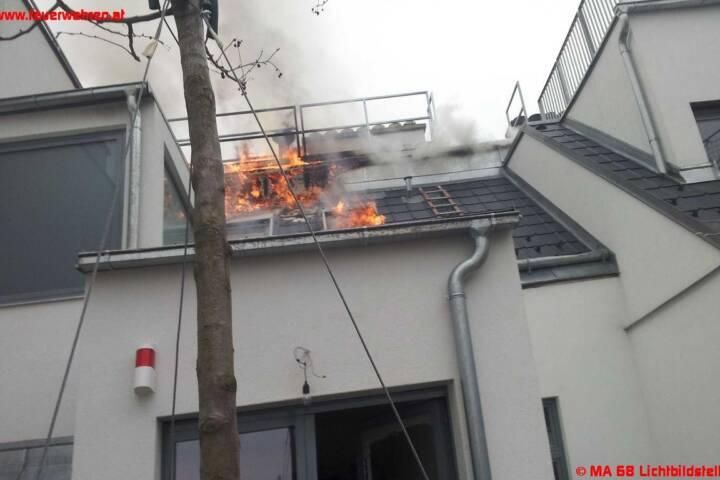 Dachbrand in Wien-Leopoldstadt