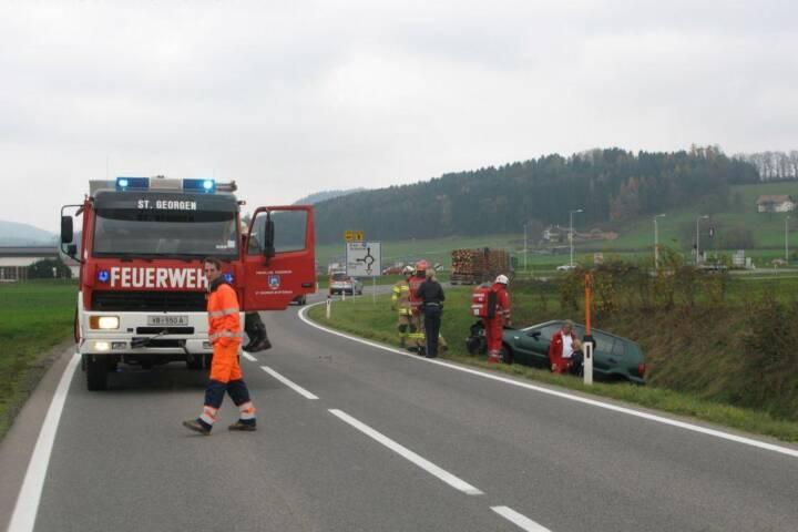 Verkehrsunfall Umfahrung St. Georgen im Attergau
