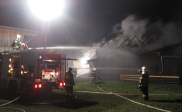 BFV Liezen: Wieder Brand eines Wirtschaftsgebäudes im Bezirk Liezen