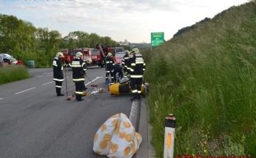 FF Kremsmünster: Schwerer Motorradunfall