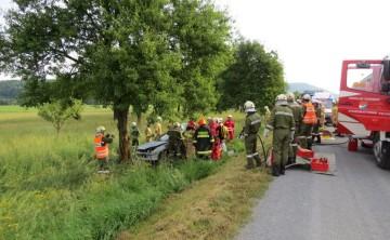 FF St. Georgen i.A.: Verkehrsunfall Oberwanger Landesstraße