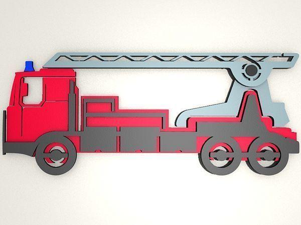 3d wanddekoration feuerwehr f r kinderzimmer for Feuerwehr kinderzimmer komplett