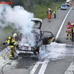 FF St. Georgen i.A.: Fahrzeugbrand auf der A1 4
