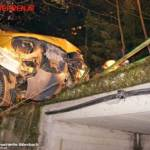 FF Biberbach: Lieferwagen drohte in den Biberbach zu stürzen 5