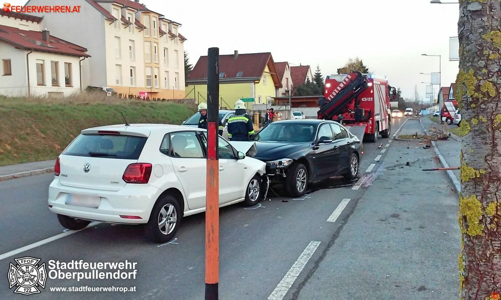 Stadtfeuerwehr Oberpullendorf: Verkehrsunfall auf der B50 1