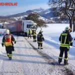 FF Biberbach: Bergung eines Sattelzuges am Friesenberg 4