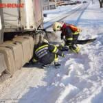 FF Biberbach: Bergung eines Sattelzuges am Friesenberg 3