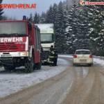 FF Mariazell: Neun Stunden Einsatz für einen LKW 5