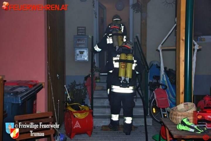 FF Trumau: Defekt einer Sauna führt zu Kellerbrand 1