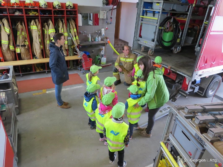 FF St. Georgen i.A.: Kindergarten bei der Feuerwehr 1