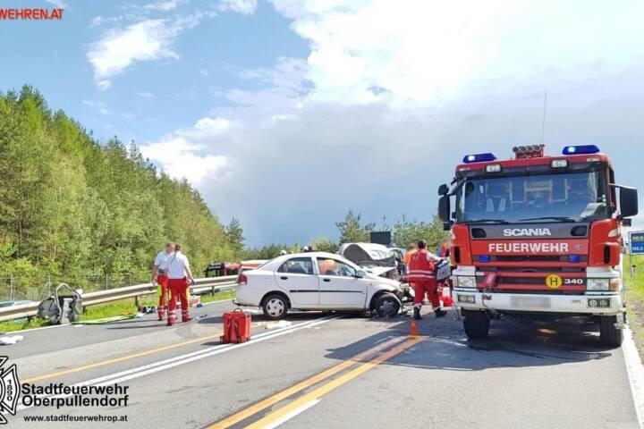 Stadtfeuerwehr Oberpullendorf: Verkehrsunfall auf der S31 1