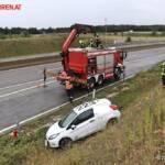 FF Gaweinstal: Verkehrsunfall mit Menschenrettung auf der A5-Nordautobahn 1