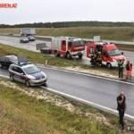 FF Gaweinstal: Pkw im Straßengraben - A5-Nordautobahn 8
