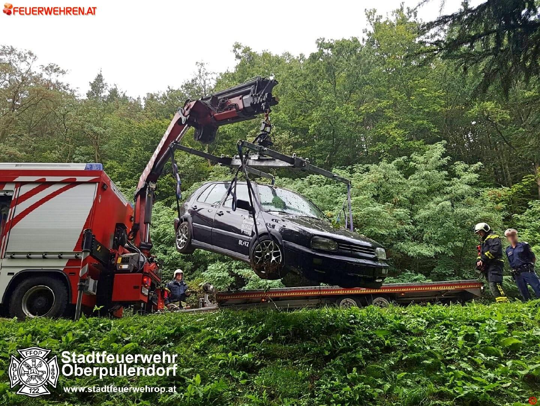 STF Oberpullendorf: Fahrzeugbergung auf der B50 1