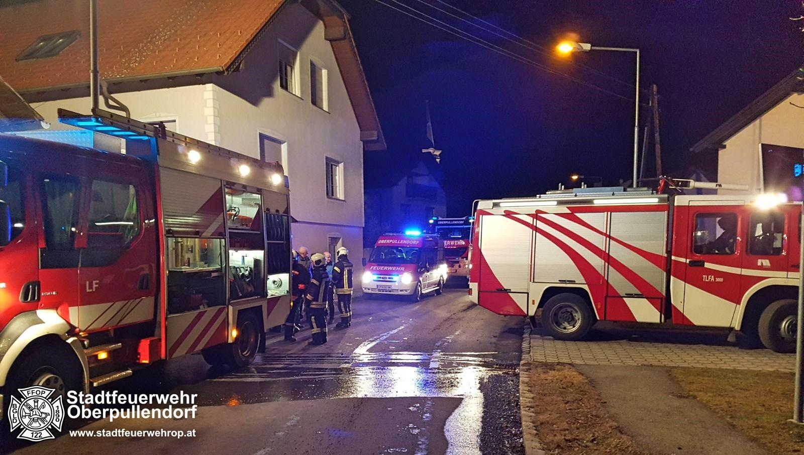 Stadtfeuerwehr Oberpullendorf: Kellerbrand in Bubendorf 1