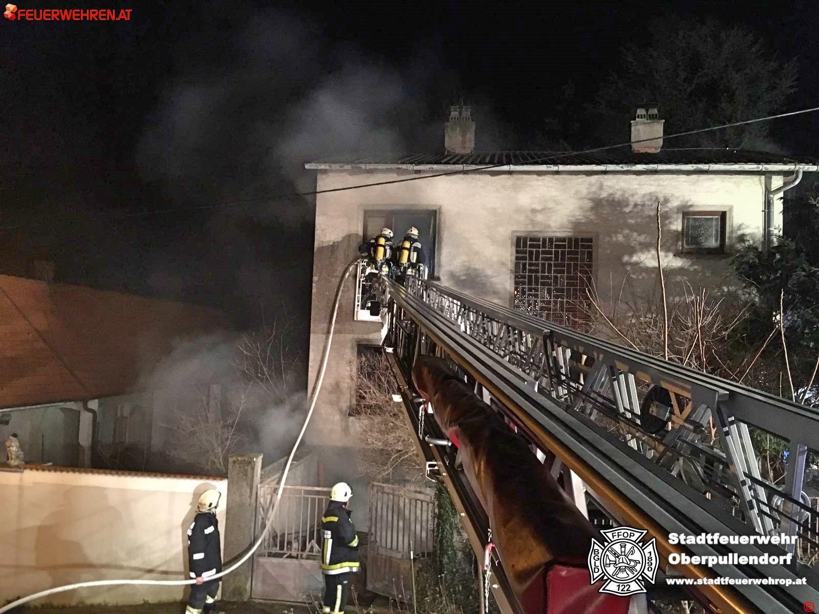 Stadtfeuerwehr Oberpullendorf: Gebäudebrand in Nikitsch 1