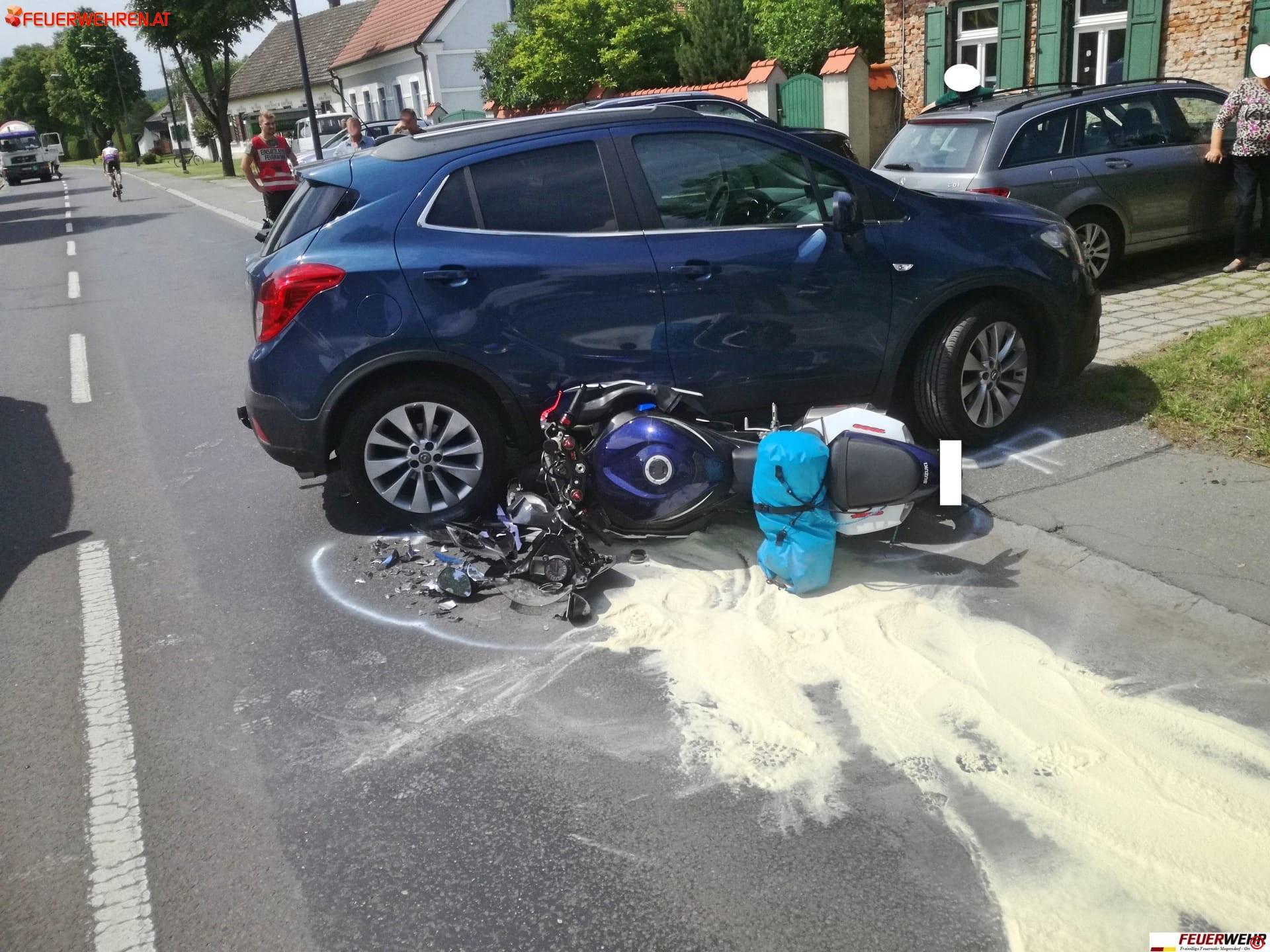 FF Mogersdorf-Ort: Verkehrsunfall mit Personenschaden 1