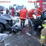 FF Hipping: Verkehrsunfall auf der Attergauer-Landesstraße 6