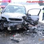 FF Hipping: Verkehrsunfall auf der Attergauer-Landesstraße 3