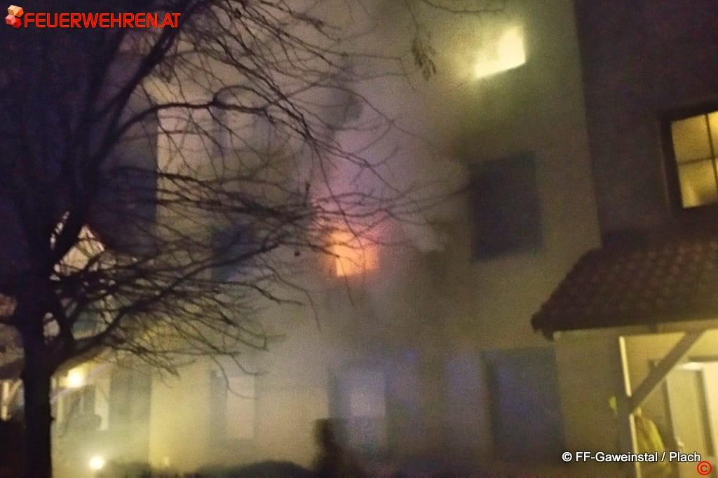 FF Gaweinstal: Wohnungsbrand Erlenweg / Kamptalsiedlung 1