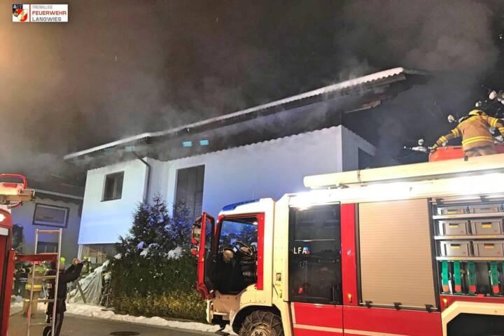 FF Langwies: Brand eines Wohnhauses 1