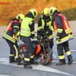 FF Gaweinstal: Motorradbergung auf der A5 4