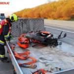 FF Gaweinstal: Motorradbergung auf der A5 5