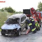 FF Gaweinstal: Fahrzeugbrand B7 / A5 12