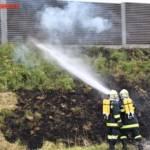 FF Gaweinstal: Fahrzeugbrand A5 Nordautobahn 6