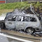 FF Gaweinstal: Fahrzeugbrand A5 Nordautobahn 11