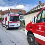 Rotes Kreuz Auto und Feuerwehrauto
