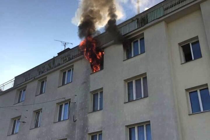 Offener Zimmerbrand