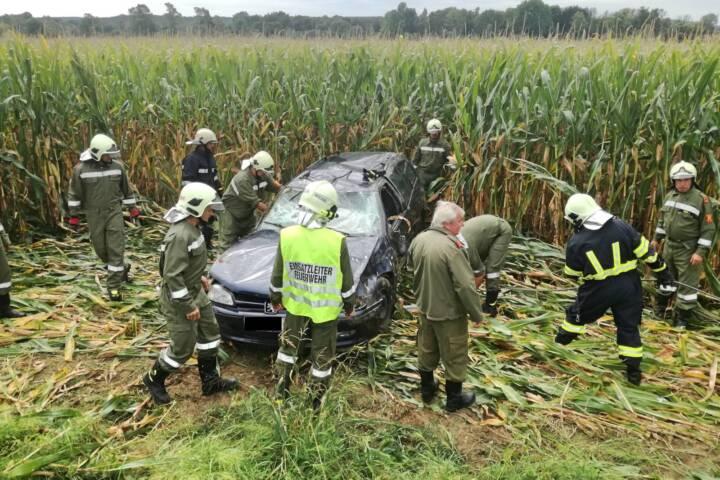 FF Mogersdorf: Verkehrsunfall mit Verletztem 1