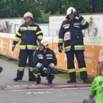 Löschmeister Maurice Weber wird Tagessieger beim Fire Fighter Run