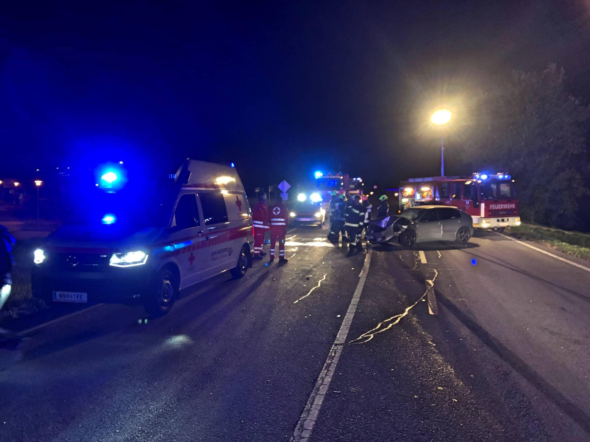 Verkehrsunfall mit zwei Fahrzeugen
