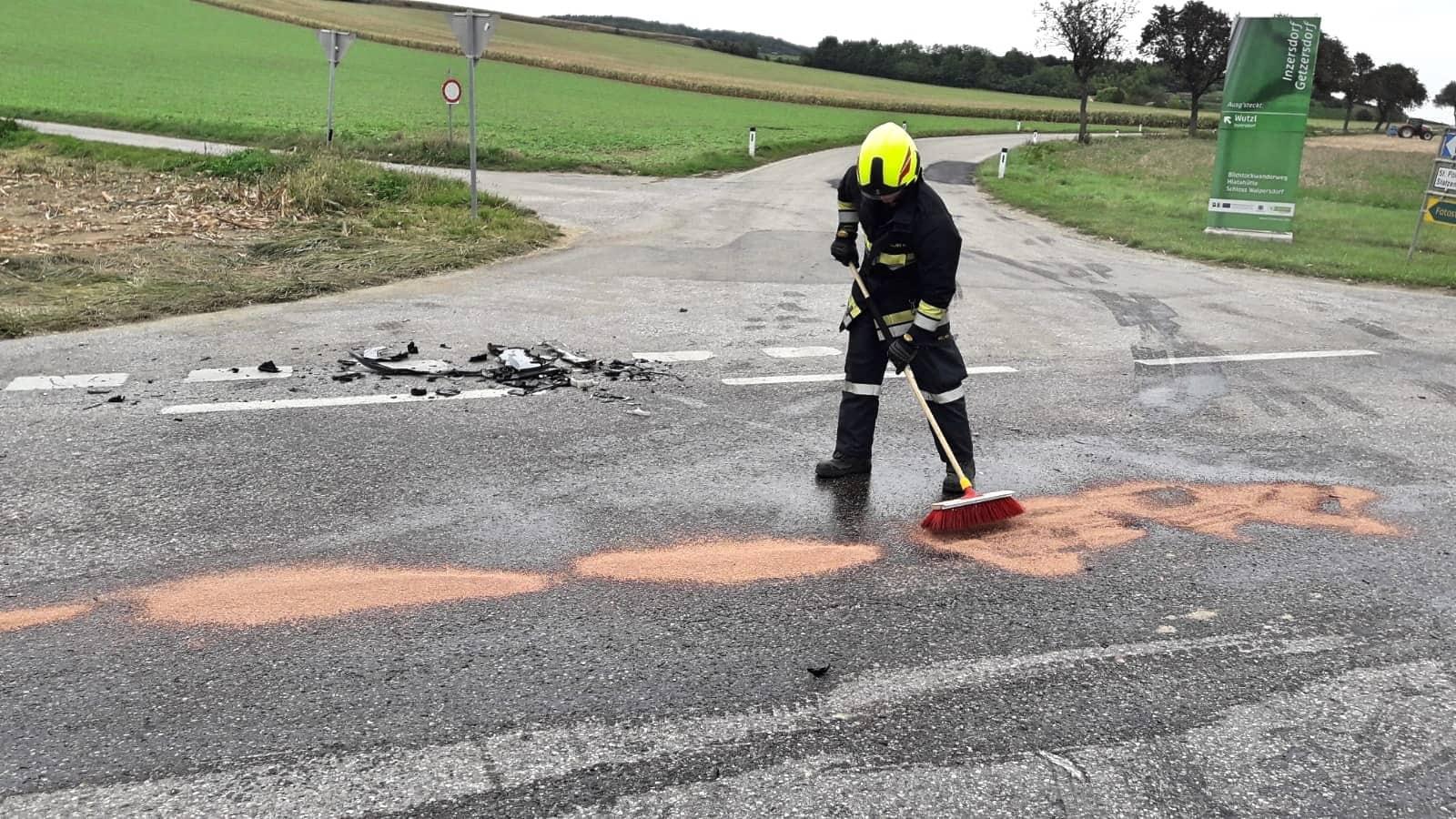 Verkehrsunfall Werksstraße Richtung Wetzmannsthal