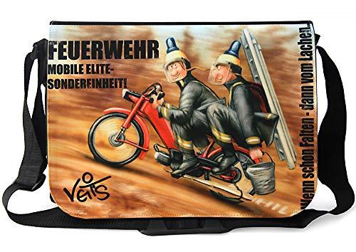 Veit'S lustige Schultertasche mit Motiv Feuerwehr