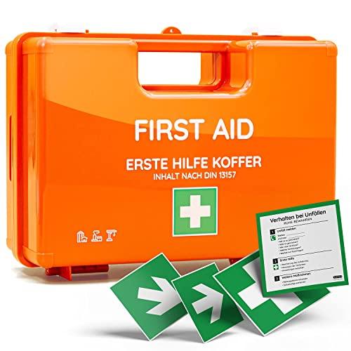 Erste-Hilfe-Koffer für Betriebe nach DIN 13157 in orange