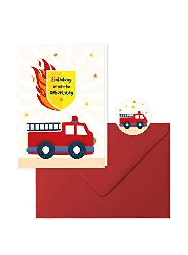 Feuerwehr-Geburtstag: 10 Zauberhafte Einladungs-Klappkarten