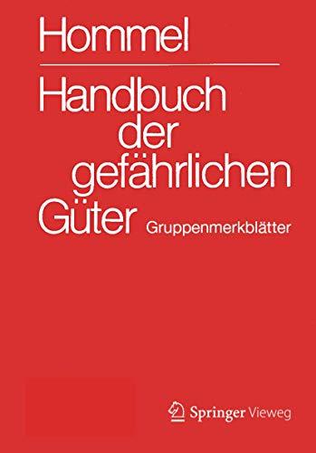Handbuch der gefährlichen Güter. Gruppenmerkblätter