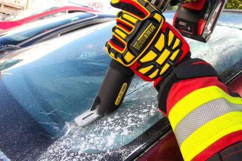 Handschuh beim Einsatz
