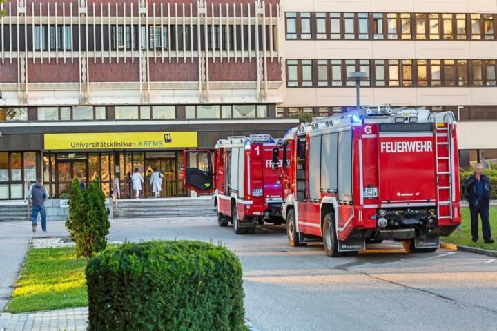 Elektrobrand im Universitätsklinikum Krems