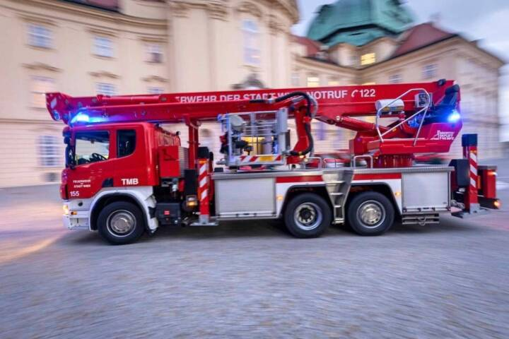 Branddienstübung - Dachstuhlbrand im Stift Klosterneuburg