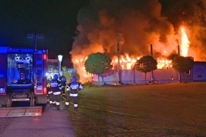 Industriebrand in Haus im Ennstal
