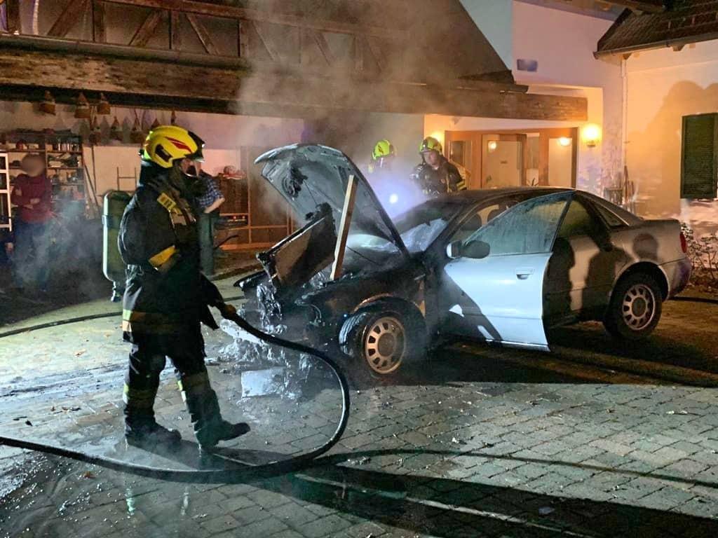 Fahrzeugbrand in Deutsch Kaltenbrunn