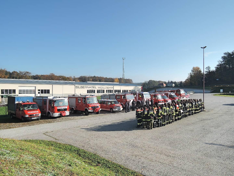 Feuerwehrunterabschnittsübung in Hoheneich