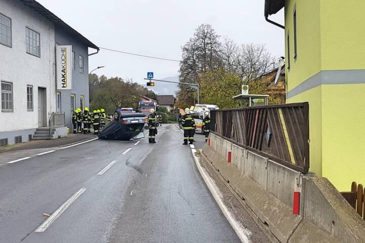 Verkehrsunfall im Villacher Stadtteil Kleinsattel